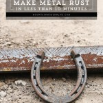 Ever wondered how to make new metal look old with a rusty, antique patina? See how you can make metal rust in less than 10 Minutes using items you probably already have on hand! MountainModernLife.com
