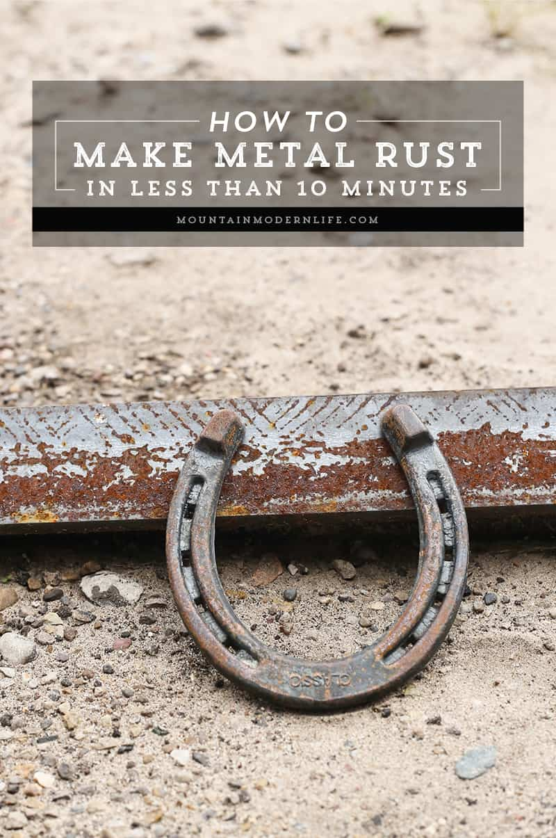 How to Make Metal Rust in Less than 10 Minutes