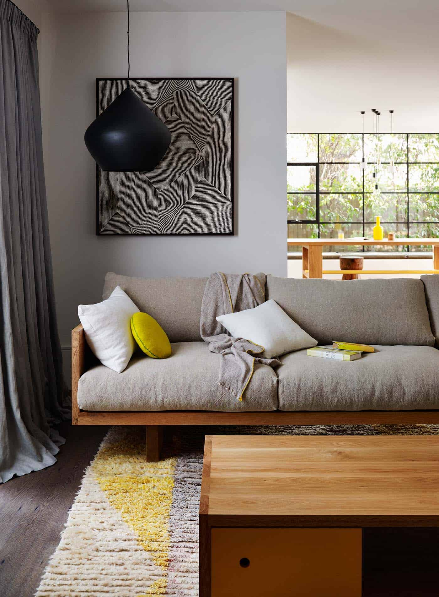 Rustic Modern Sofa Designs | Source: Mark Tuckey Plinth Sofa - Photo by Lucas Allen