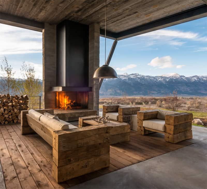Rustic Modern Sofa Designs   Photo Source: Pearson Design Group