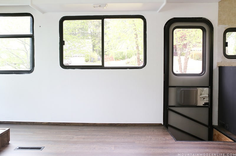Looking to build a custom sofa inside your RV or camper? Come see how we created custom seating with additional storage space! MountainModernLife.com