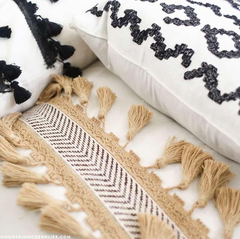 DIY No-Sew Pillows | MountainModernLife.com