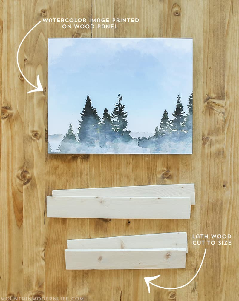 See how easy it is to create custom wall art, plus it's small and lightweight, perfect for a tiny home or RV! MountainModernLife.com