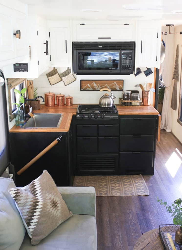 Renovated RV kitchen