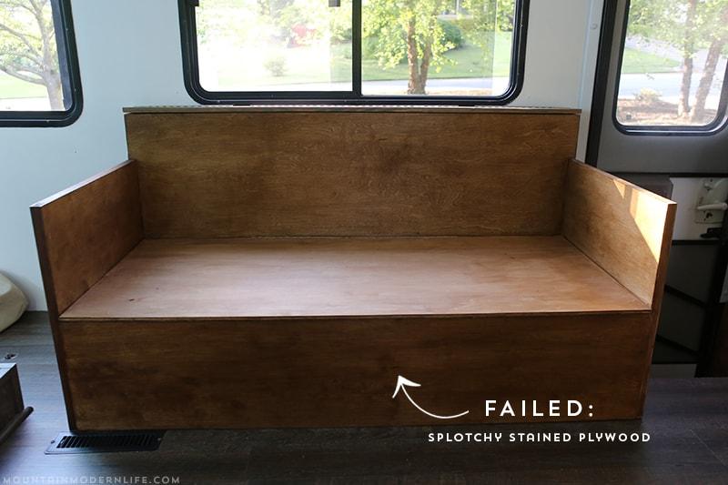 Splotchy Stain Job on Plywood