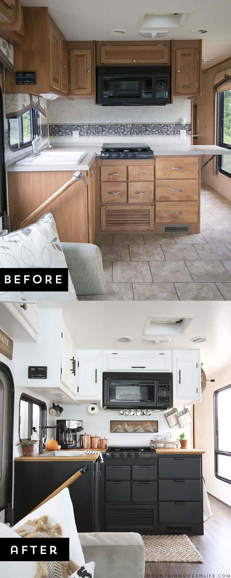 Http Mountainmodernlife Com Handscraped Ashen Oak Nucore Flooring Installed Inside Motorhome Mountainmodernlife Com