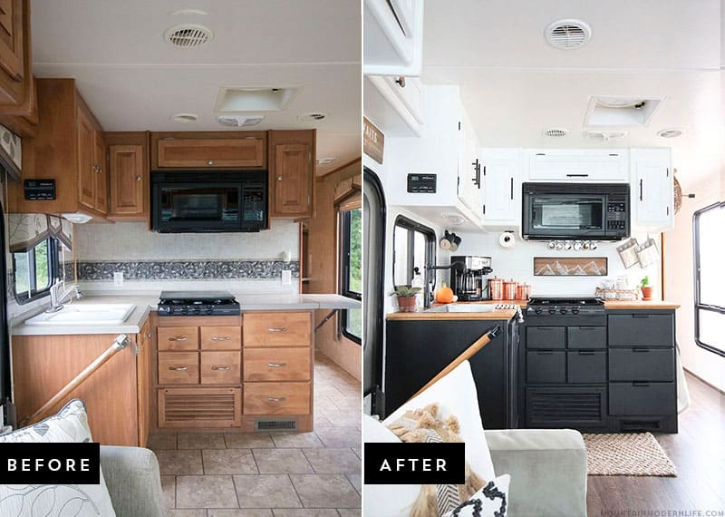 Tiny Kitchen Remodel The Reveal Of Our RV Renovation