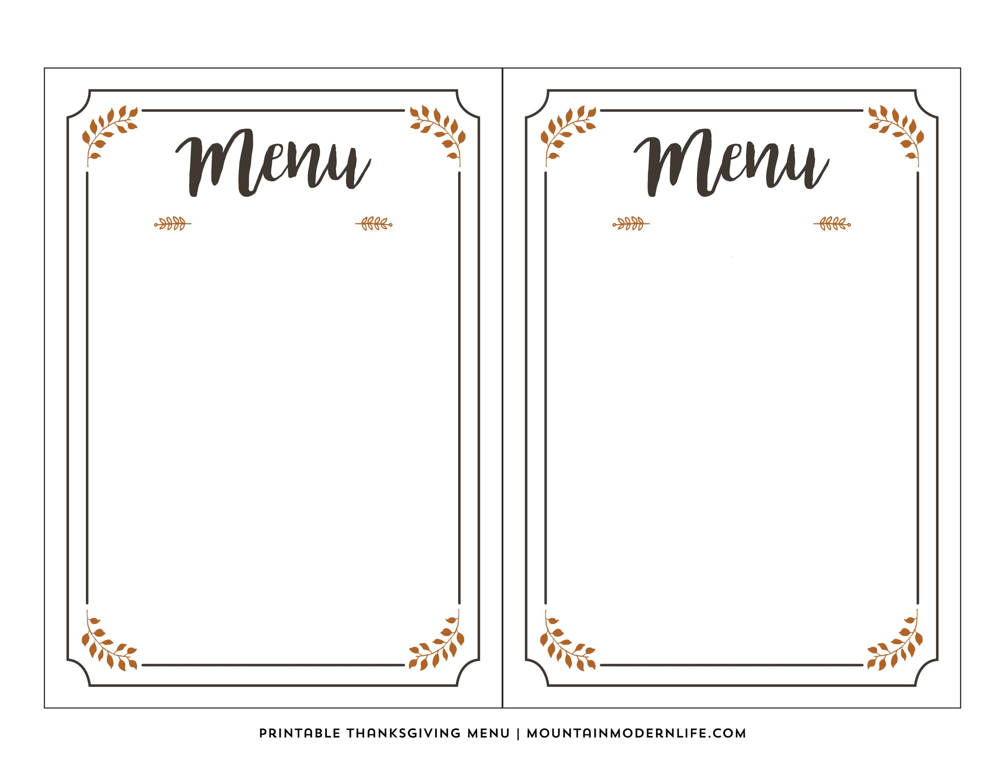 Lucrative image with regard to blank printable menu