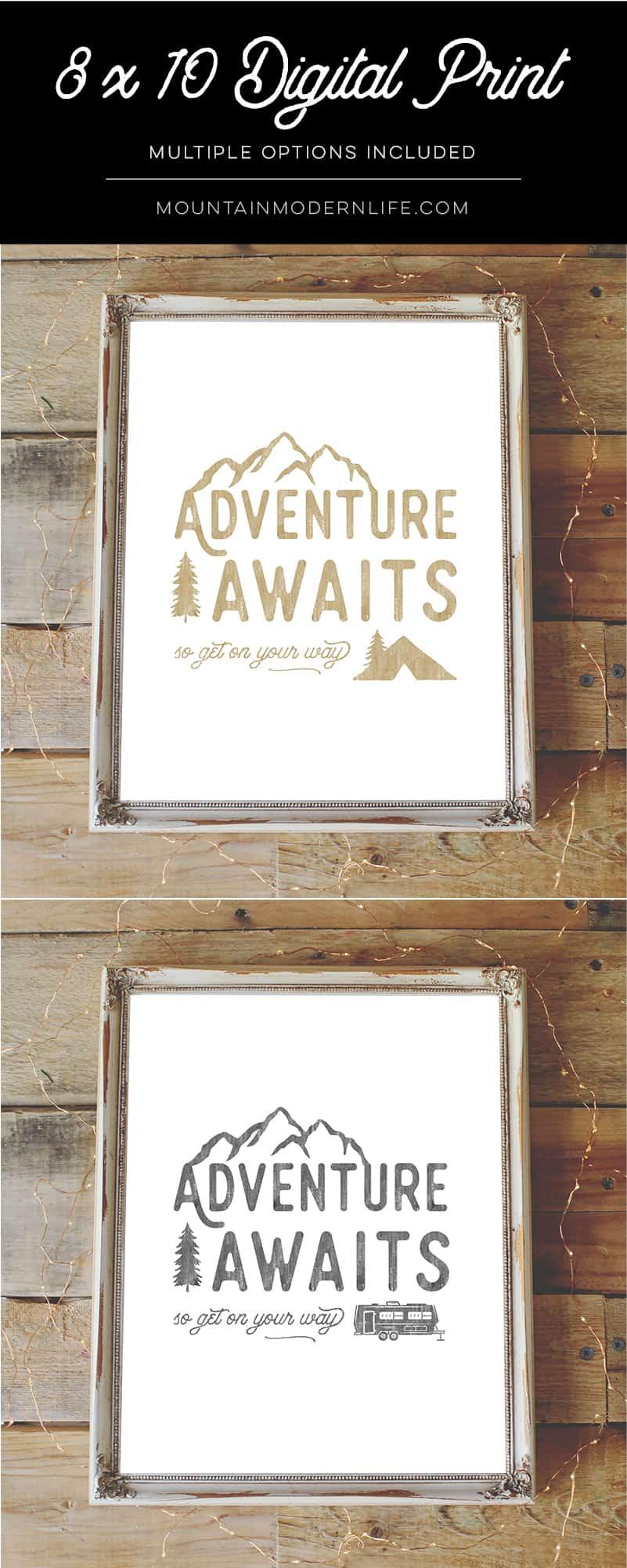 Adventure Awaits Printable   MountainModernLife.com