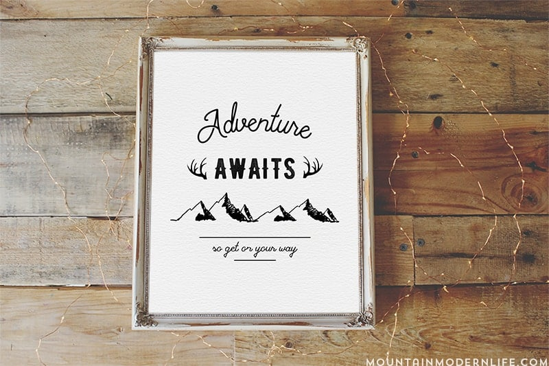 Instantly spruce up your walls with this Adventure Awaits Printable! Plus join our membership to access ALL of our printables! MountainModernLife.com