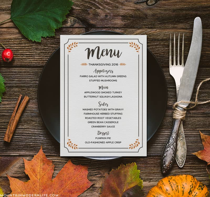 picture relating to Printable Thanksgiving Menu known as No cost Printable Thanksgiving Menu