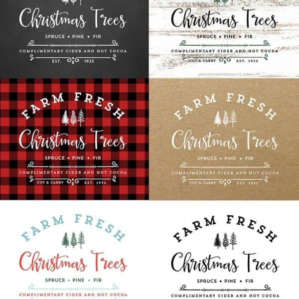 Farm Fresh Christmas Trees Printable | MountainModernLife.com