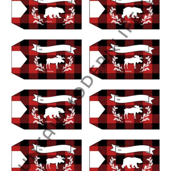 Plaid Printable Christmas Gift Tags | MountainModernLife.com