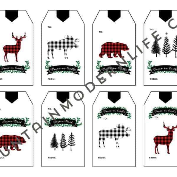 Printable Christmas Gift Tags | MountainModernLife.com