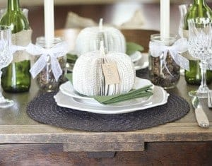 Book Pumpkin Tablescape