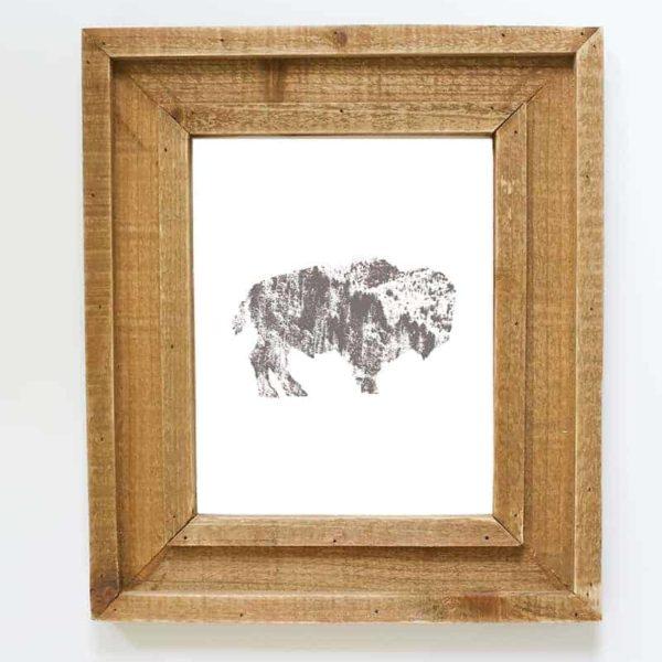 rustic-buffalo-silhouette-printable-mountainmodernlife.com