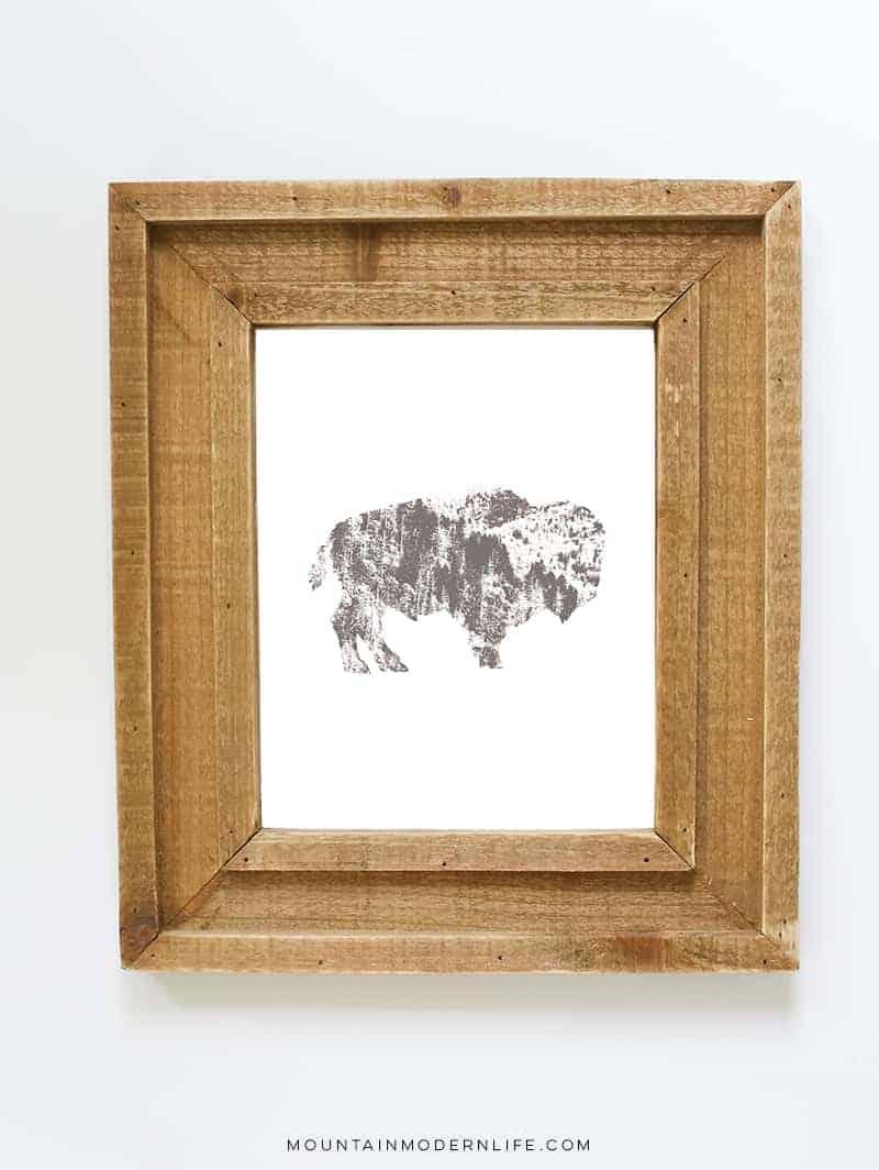 Rustic Animal Printables | MountainModernLife.com