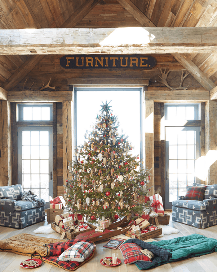 25 of the Most Inspiring Rustic Christmas Trees - Rustic Farmhouse Christmas Tree | Country Living