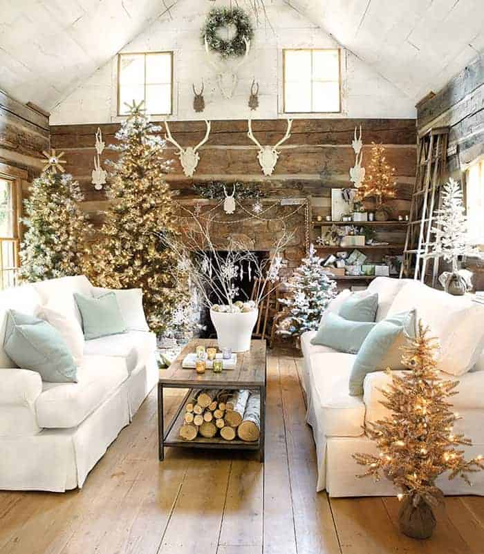 Rustic Lodge Christmas Trees | Suzanne Kasler