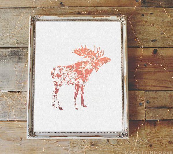 Rustic Moose Printable | MountainModernLife.com