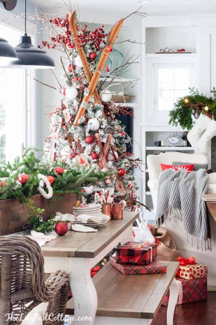 Ski Lodge Christmas Tree | The Lily Pad Cottage