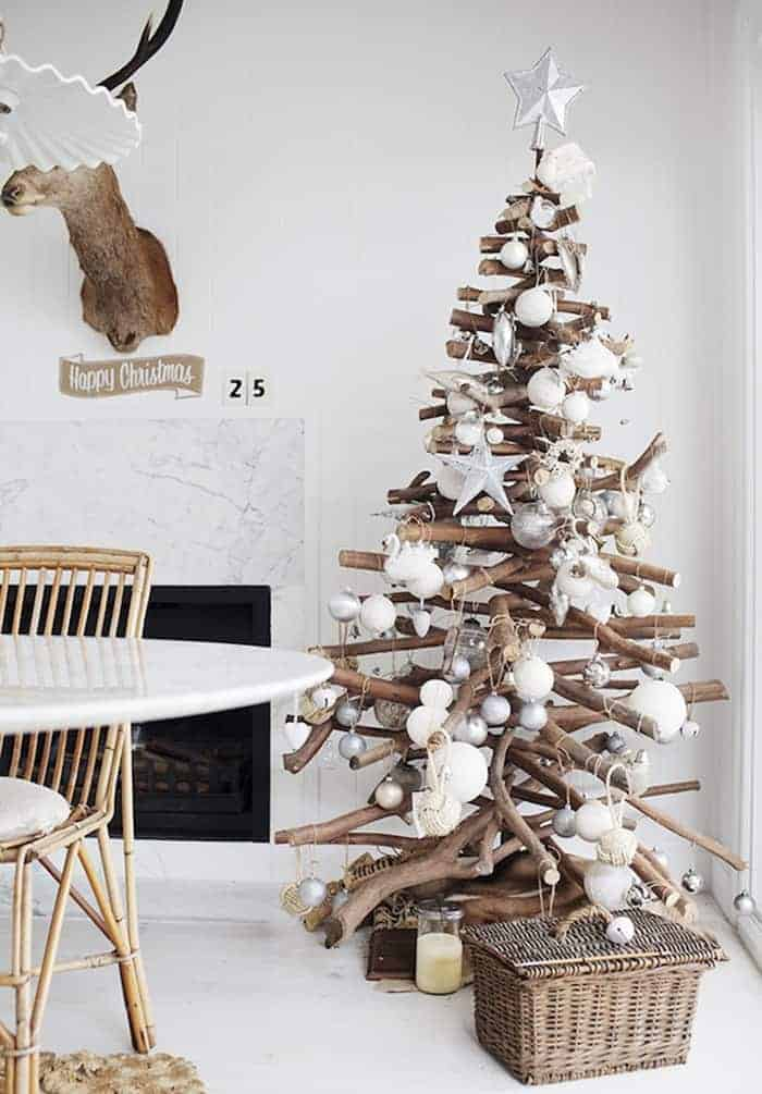 Rustic Stacked Branch Christmas Tree | Kara Rosenlund