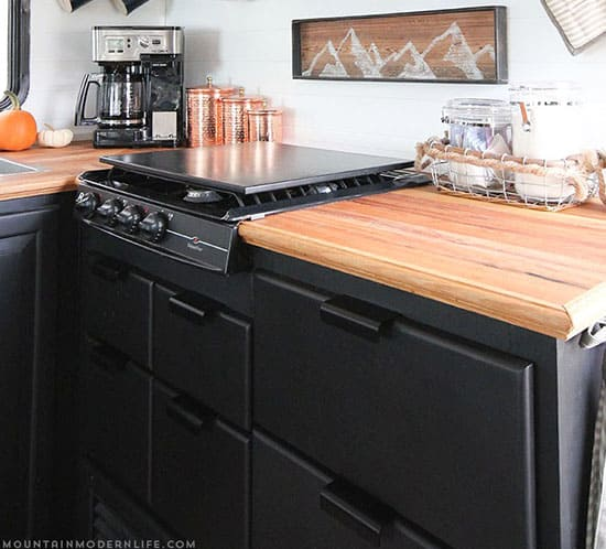 Elegant  Progress Of Our Painted RV Kitchen Cabinets MountainModernLifecom