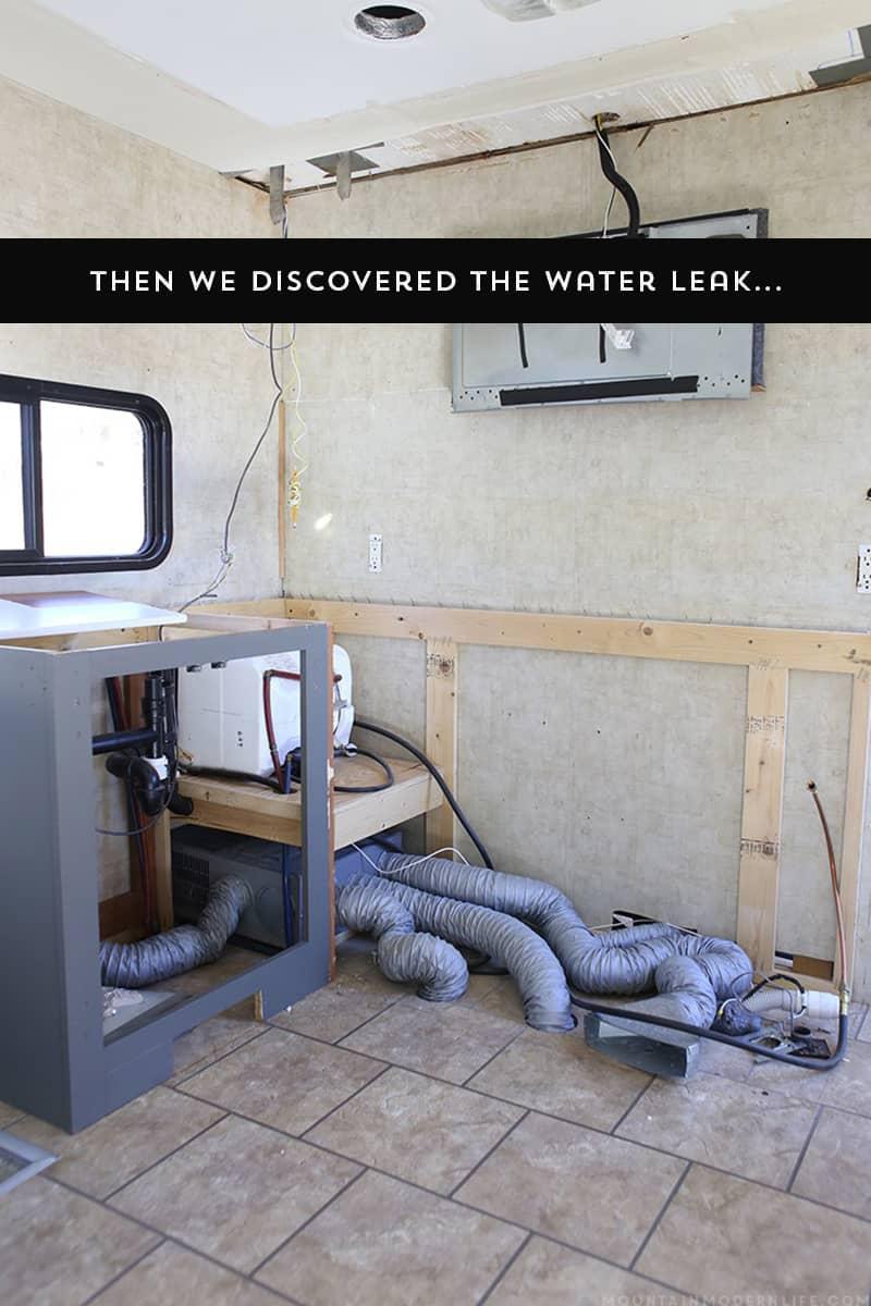 RV Water Leak Damage