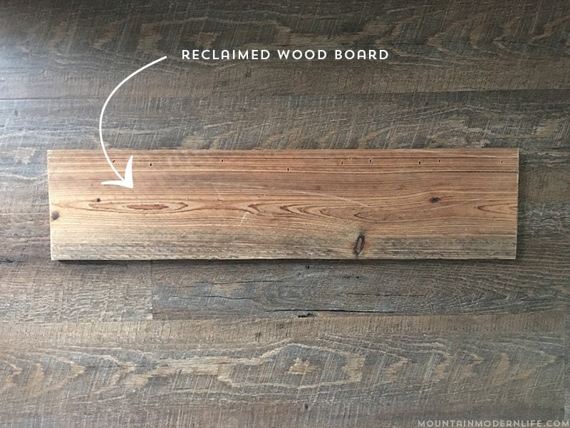 How to make reclaimed mountain wall art for Using reclaimed wood on walls