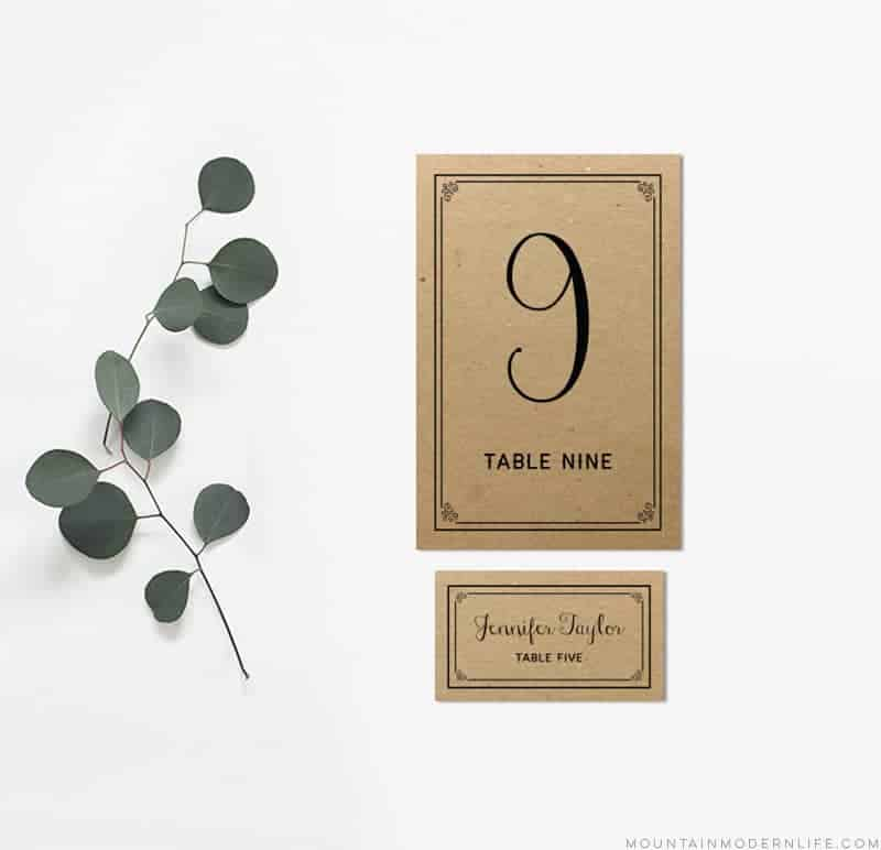 photograph relating to Printable Table Number identify Black Do-it-yourself Desk Quantities and Space Playing cards