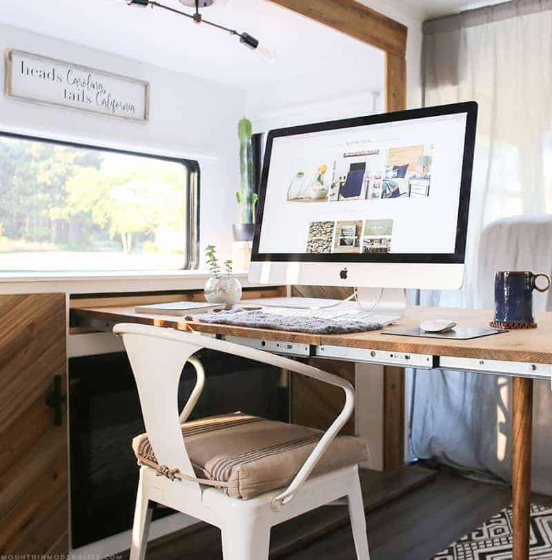 Updated roller shades in RV | MountainModernLife.com