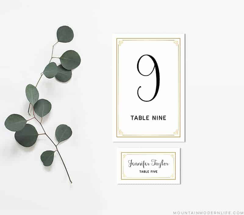 image relating to Diy Printable Table Numbers named Gold Do it yourself Desk Figures and Issue Playing cards