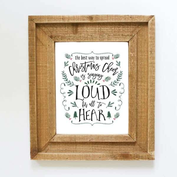 Love the movie, Elf? Spruce up the walls in your home with this whimsical Christmas Cheer printable! MountainModernLife.com