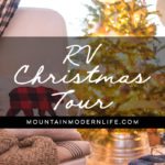 Our RV all decked out for the holidays! MountainModernLife.com