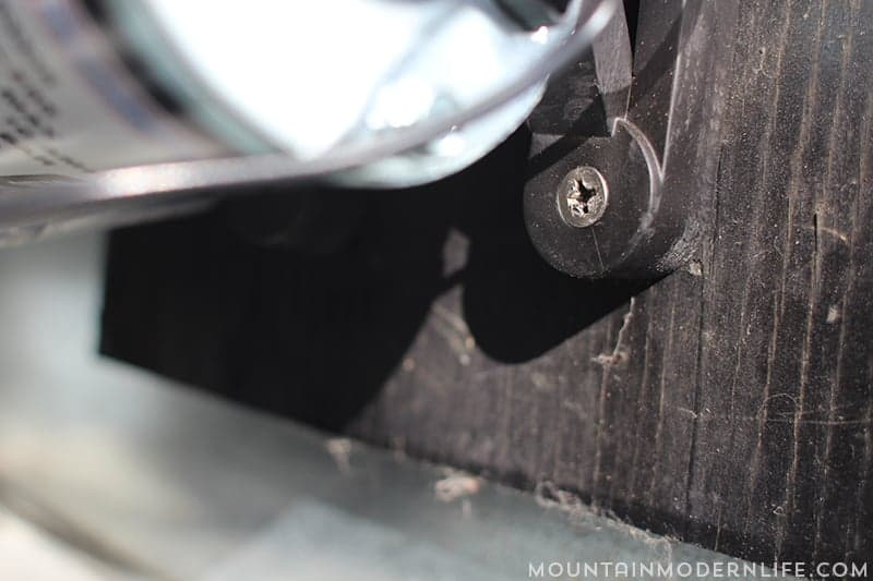 screw holding rv water pump in place mountainmodernlife.com