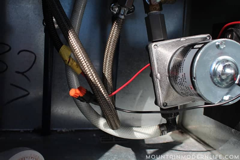 two hoses connected to rv water pump mountainmodernlife.com