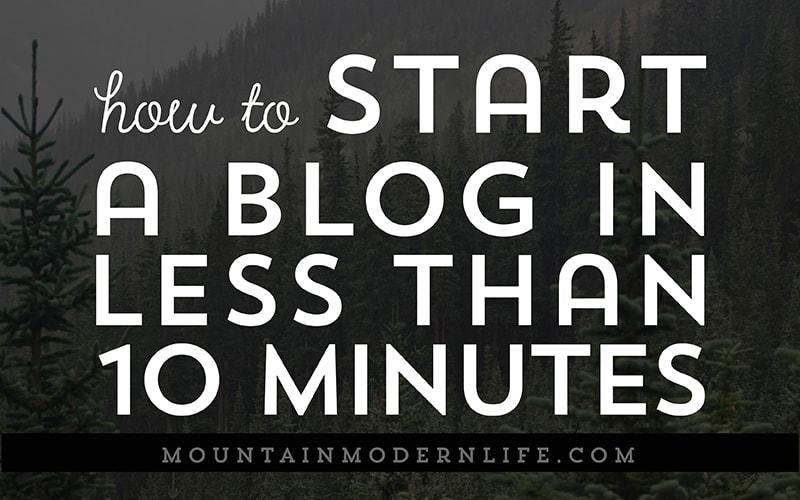 Blog Quickstart Guide