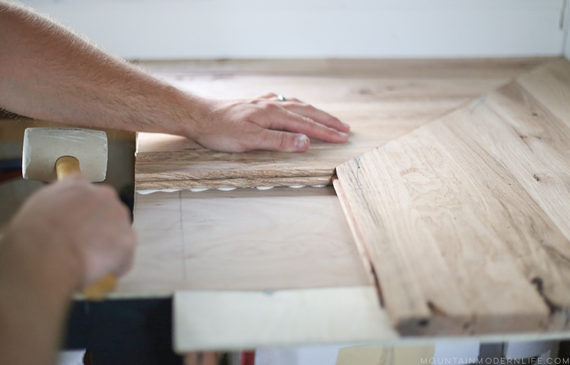 How To Create Wood Counters From Flooring In A Rv