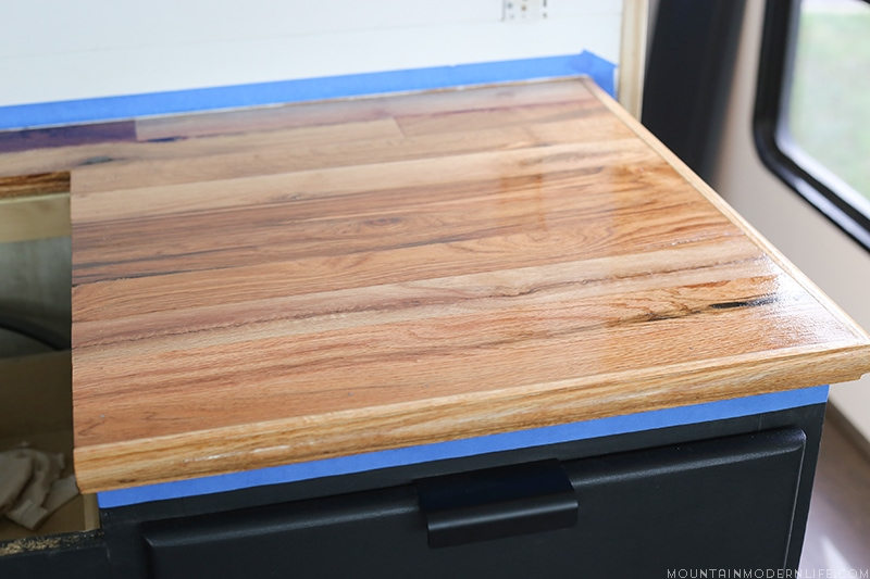 Looking For A Natural Wood Sealer For Your Counters? See How We Protected  Our RV