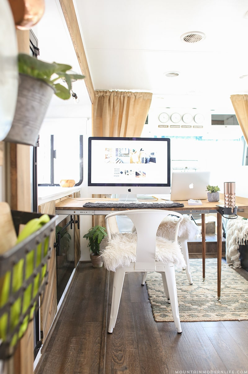 rustic-modern-rv-renovation-pull-out-desk-mountainmodernlife.com
