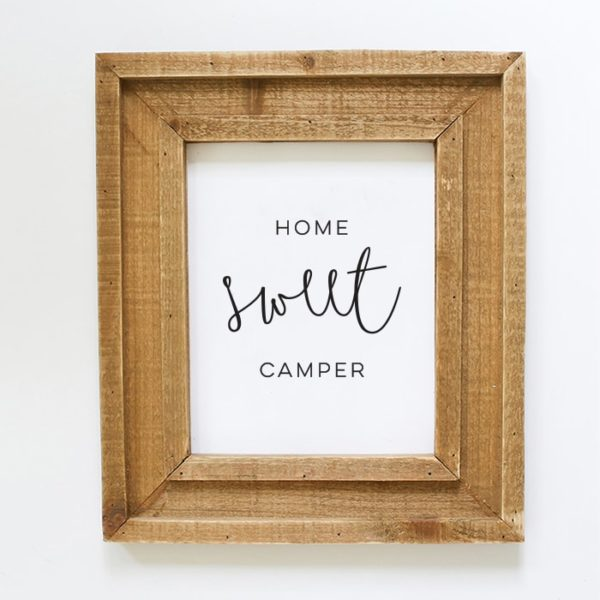 "Instantly download this ""Home Sweet Camper"" printable to display in your own tiny home on wheels! MountainModernLife.com"