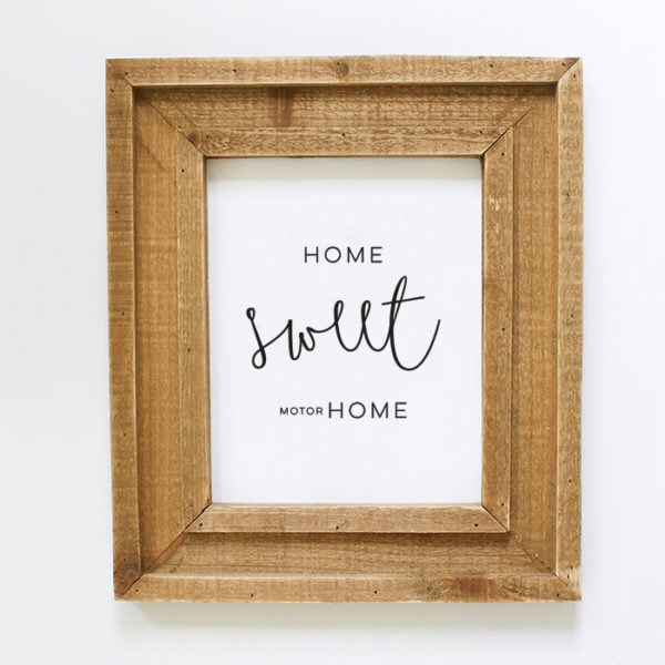 """Instantly download this """"Home Sweet Motorhome"""" printable to display in your own tiny home on wheels! MountainModernLife.com"""