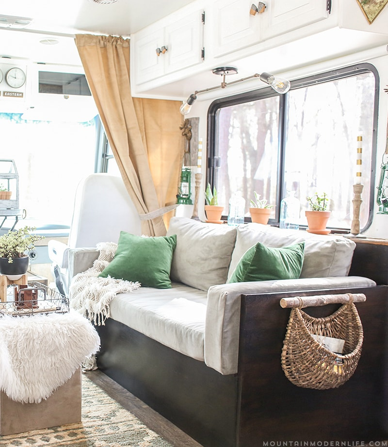Want to replace those old light fixtures in your motorhome with updated RV interior lighting? It's a lot easier than you think! MountainModernLife.com