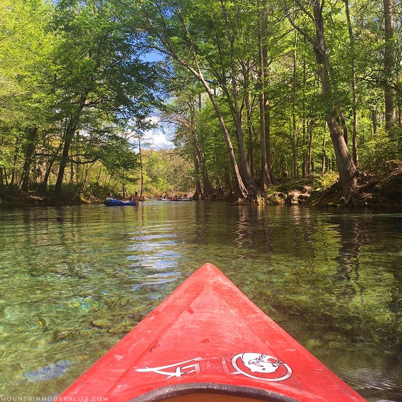 Kayaking the Santa Fe River in Northern Florida | MountainModernLife.com