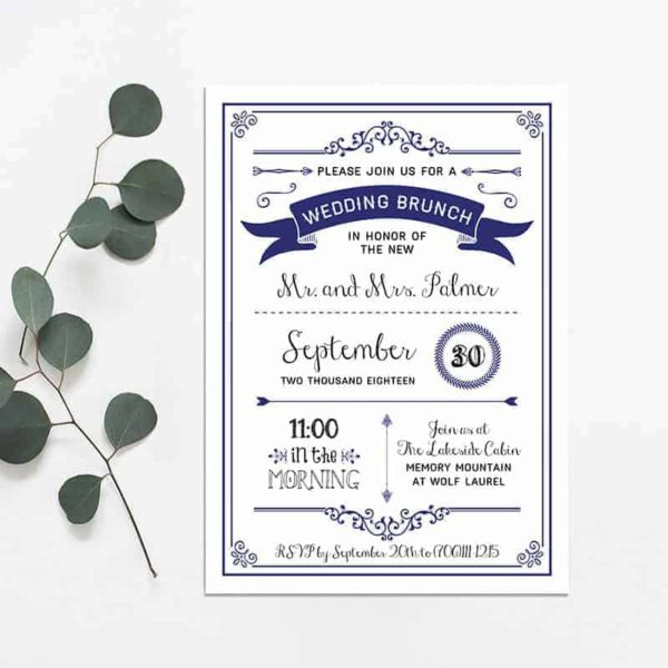 Printable DIY Wedding Brunch Invitation