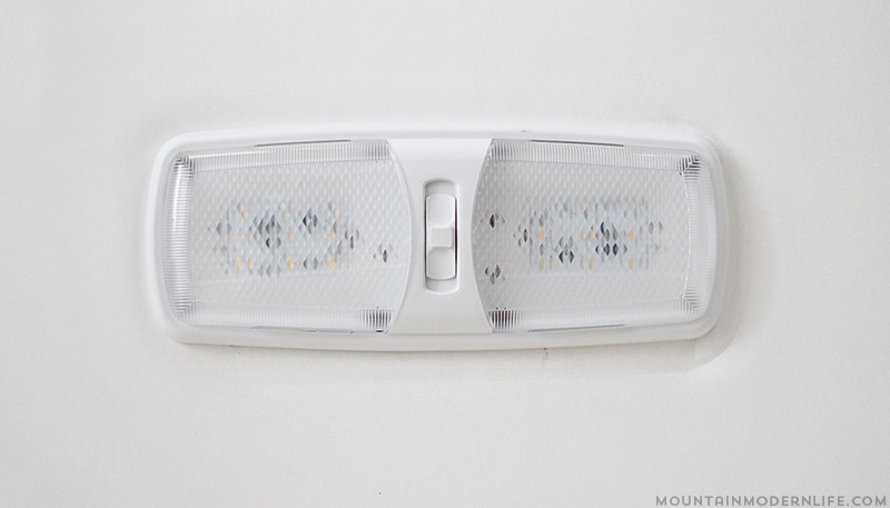 Are the dome lights in your RV wasting energy and getting way too hot? See how easy it is to install LED lights in a RV. | MountainModernLife.com