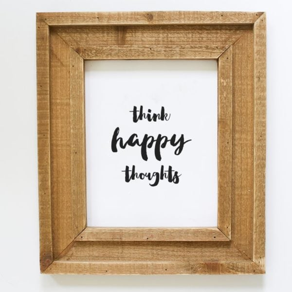 Think Happy Thoughts Printable | MountainModernLife.com