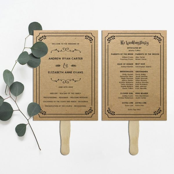 Printable Rustic DIY Wedding Program | MountainModernLife.com