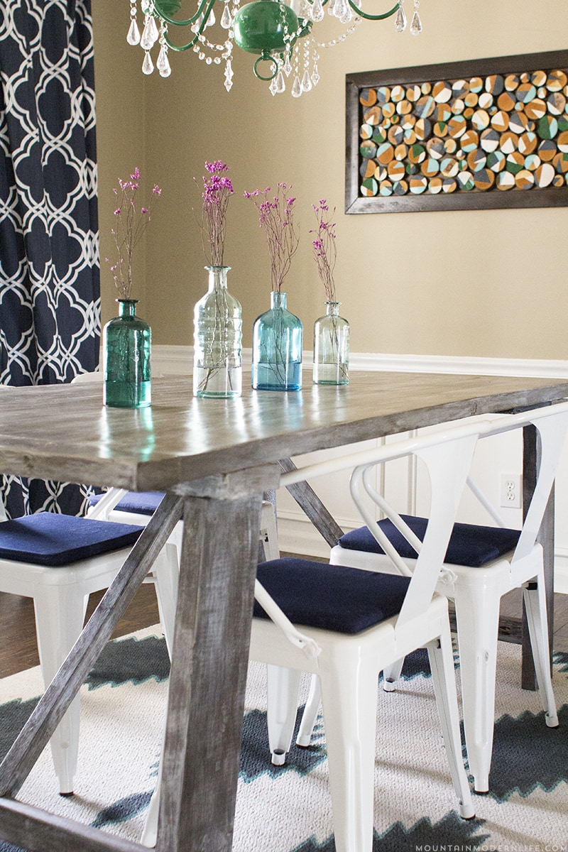 West Elm Inspired Dining Table Mountain Modern Life