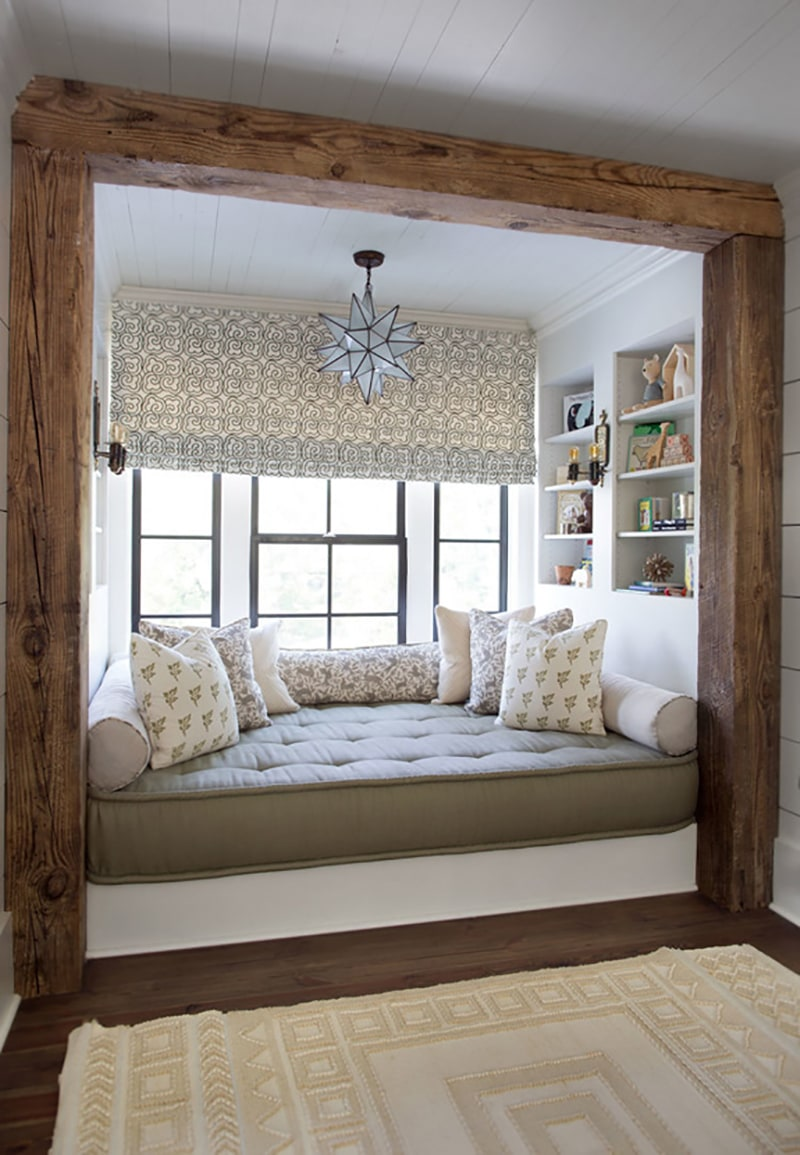 Rustic Framed Window Nook | Cloth and Kind
